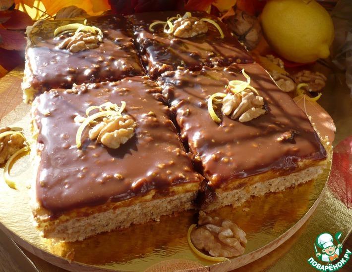 Рецепт: Орехово-лимонные пирожные