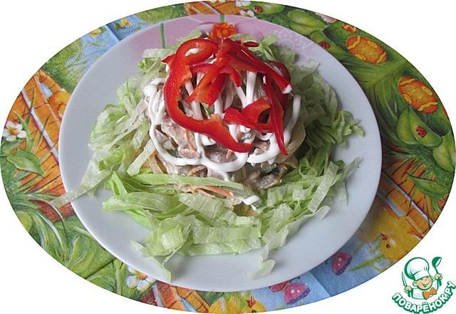 Салат с куриными желудками photo