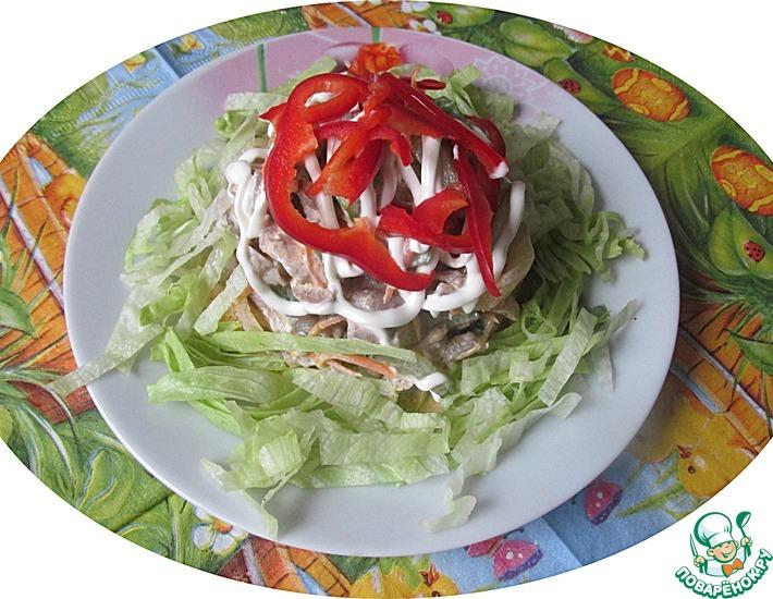 Рецепт: Салат с куриными желудками