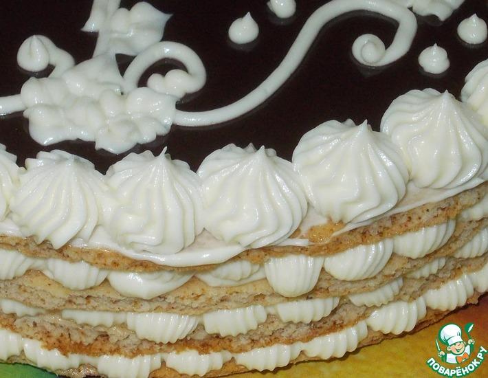 Рецепт: Крем сметанно-заварной с белым шоколадом