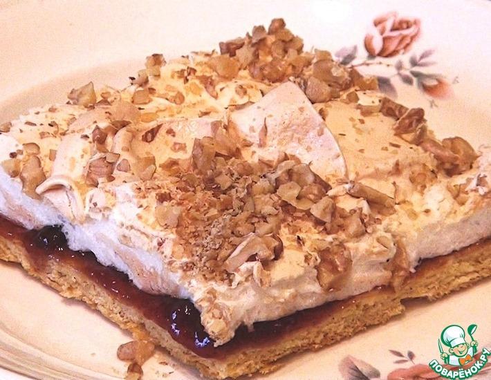 Рецепт: Песочное пирожное с меренгой