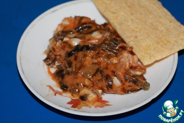 Солянка из морской капусты с кальмаром photo