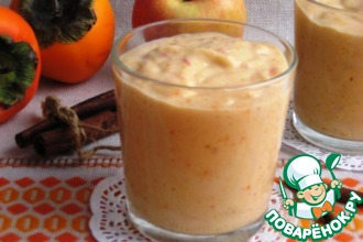 Рецепт: Пряное смузи с хурмой и яблоком