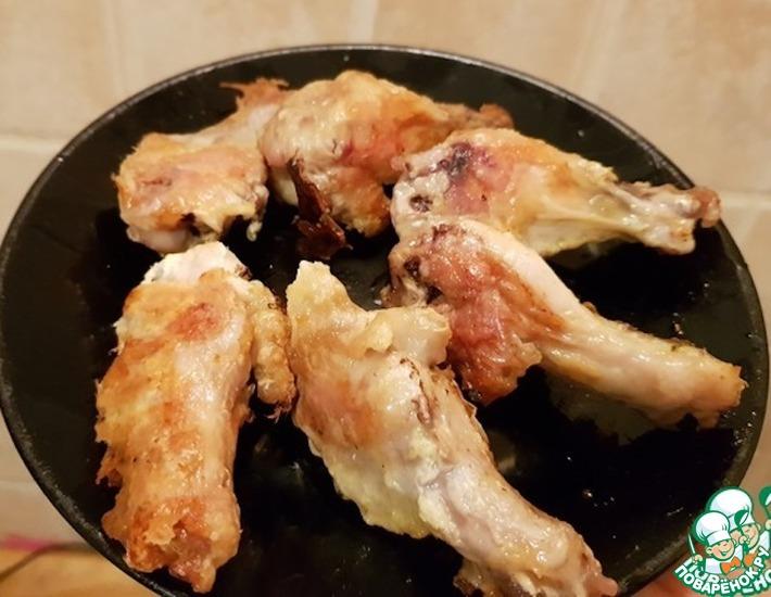 Рецепт: Куриные крылышки