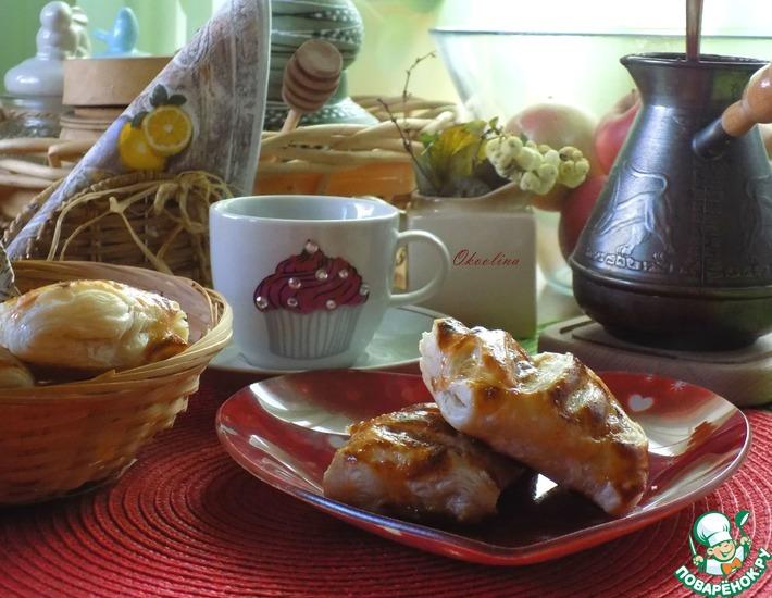 Рецепт: Быстрые слойки-пирожки с джемом
