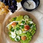 Лёгкий салат с польпетте