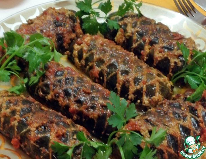Рецепт: Фаршированные баклажаны в соусе Шохона таом