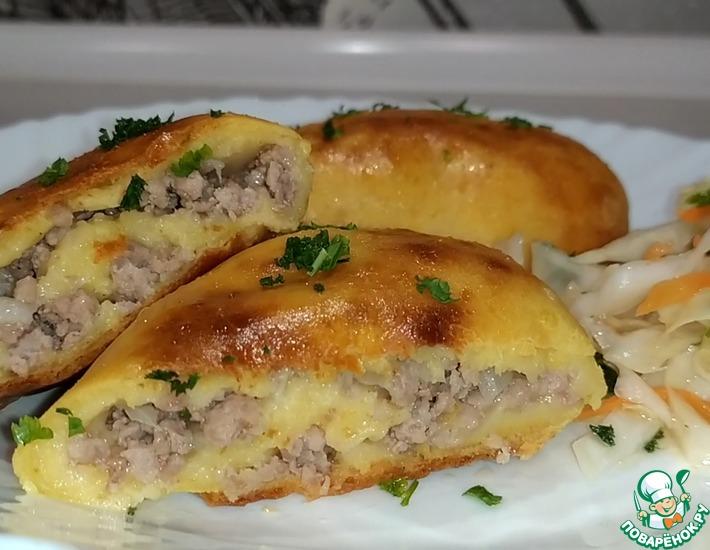 Рецепт: Картофельные зразы с фаршем в духовке