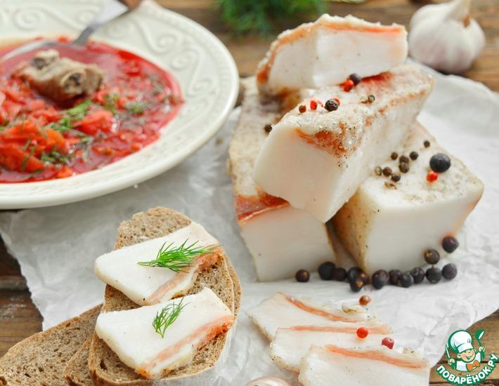 Рецепт: Сало соленое сухим способом