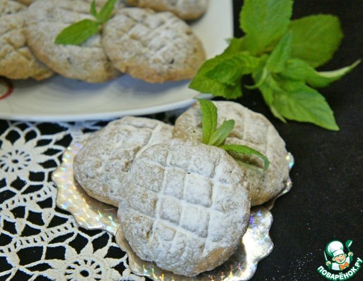 Рецепт: Мятно-шоколадное печенье