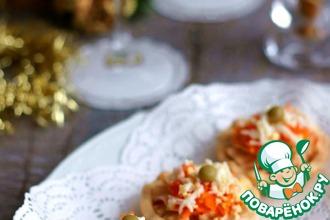 Рецепт: Крем-салат из домашней тушёнки