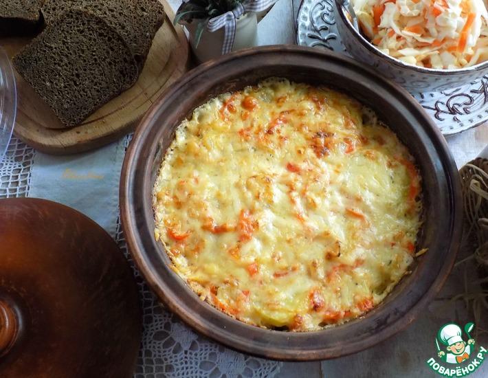 Рецепт: Ароматный картофель, запечённый в сливках