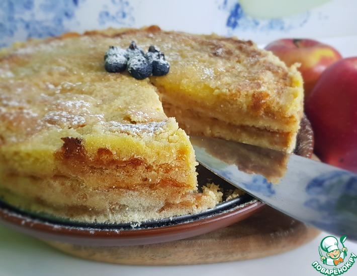 Рецепт: Насыпной пирог с яблоками