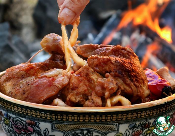 Рецепт: Лагман с курицей