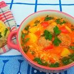 Суп-рагу с фрикадельками