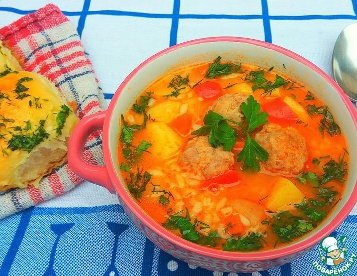 Рецепт: Суп-рагу с фрикадельками