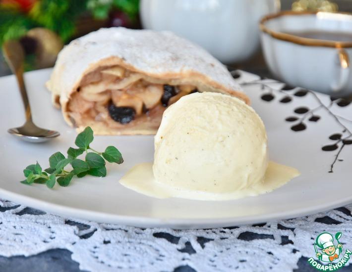 Рецепт: Ванильное домашнее мороженое