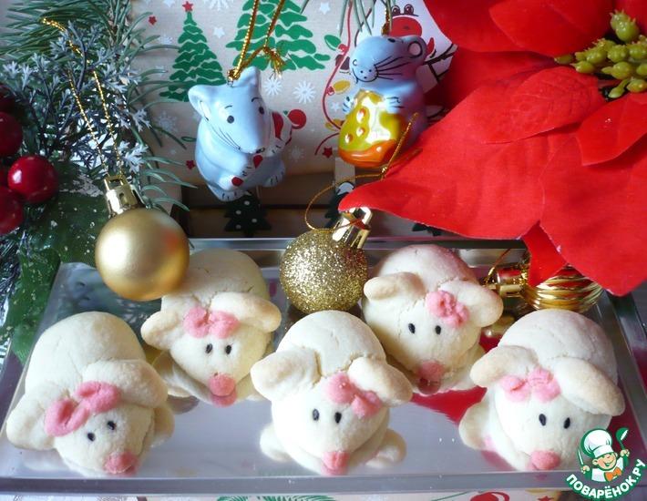 Рецепт: Новогоднее печенье Символ года мышата