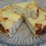 Ароматный пирог из лаваша с творогом