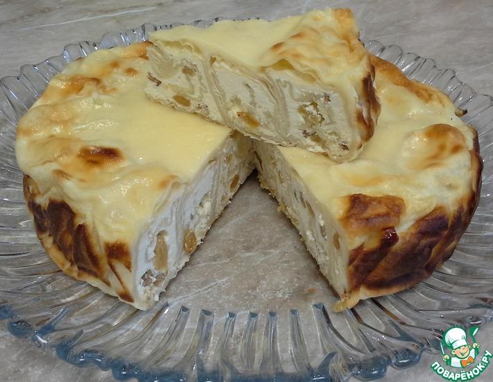 Рецепт: Ароматный пирог из лаваша с творогом