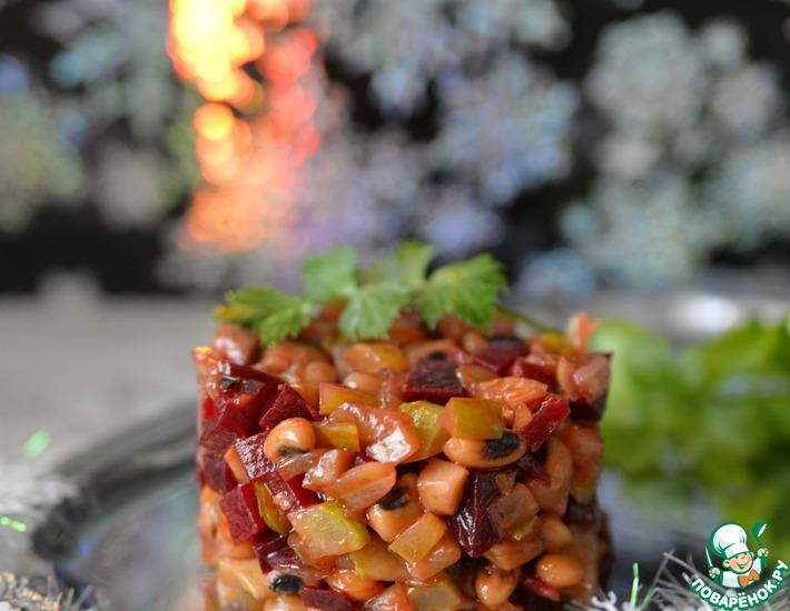 Рецепт: Салат из фасоли Вечерний