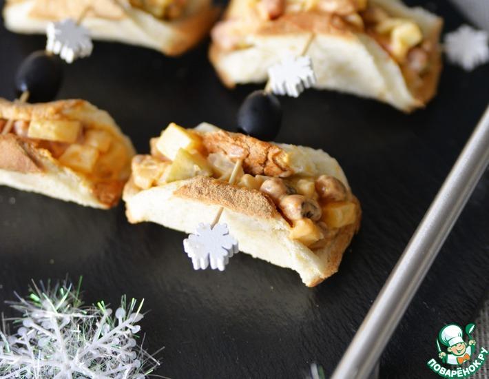 Рецепт: Тарталетки с салатом из копчёной колбасы