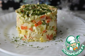 Рецепт: Салат с кальмарами Круиз