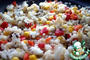 Но идеальный вариант-с рисом и овощами.