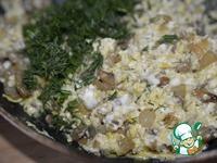 Кальмары, фаршированные омлетом с шампиньонами ингредиенты