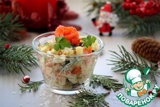 Рецепт: Салат со слабосоленым лососем