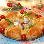 Закусочный пирог с курицей и яблоком