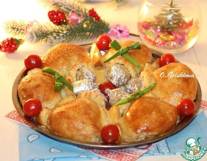 Рецепт: Закусочный пирог с курицей и яблоком