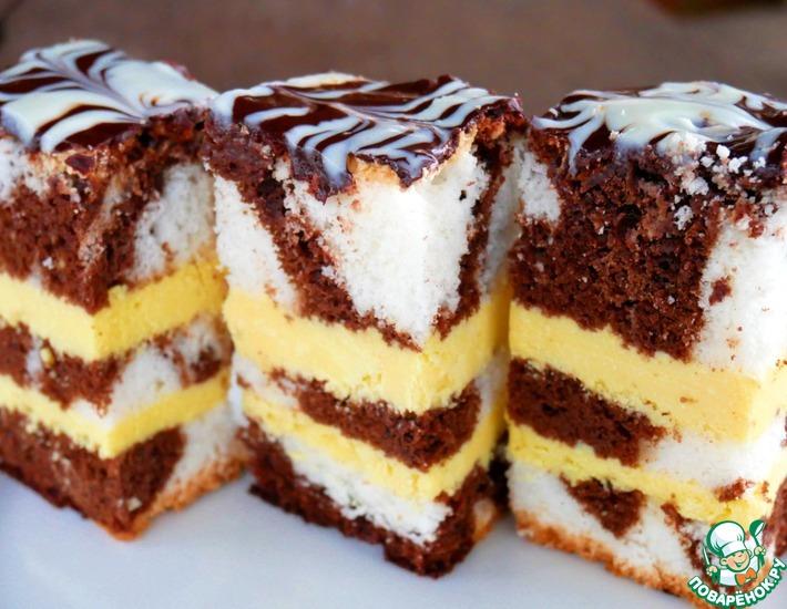 Рецепт: Торт Творожное безумие