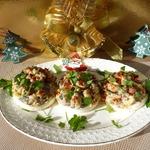 Фаршированные яйца на новогоднюю закуску