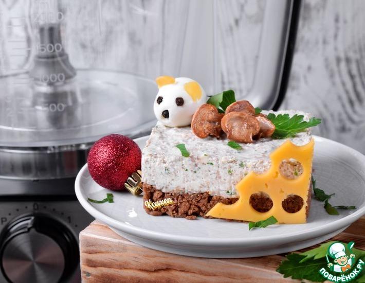 Рецепт: Закусочные мини-чизкейки с шампиньонами