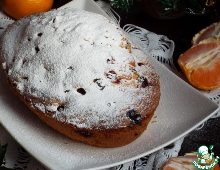 Рецепт: Мини-пирог с мандаринами и клюквой