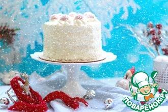 Рецепт: Торт Малиновый рафаэлло