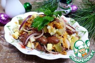Рецепт: Салат с фасолью