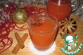 Рецепт: Горячий яблочно-грейпфрутовый напиток