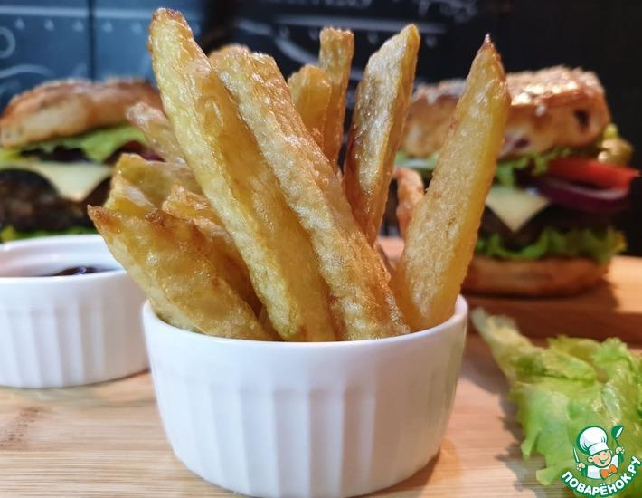 Рецепт: Хрустящий картофель-фри