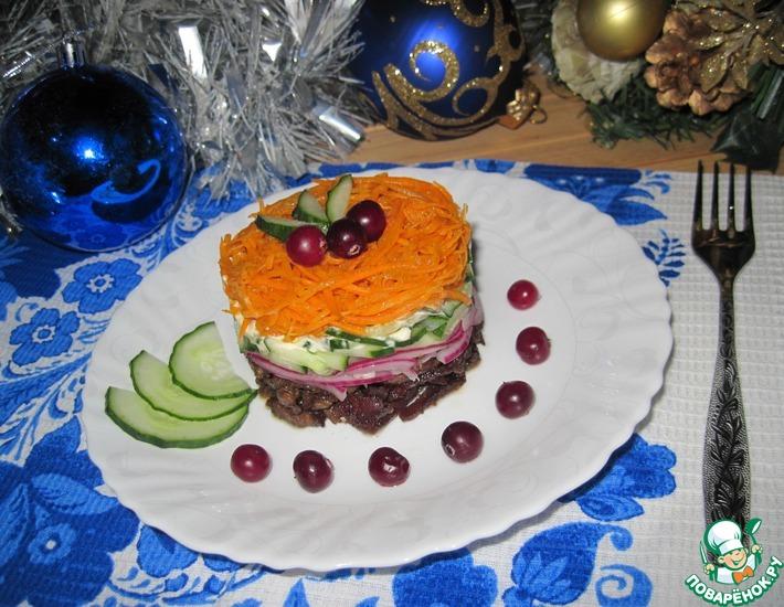 Рецепт: Салат с говядиной и морковью по-корейски