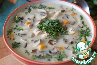 Рецепт: Американский суп с диким рисом и курицей