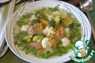 Рецепт: Суп с говядиной и брокколи