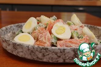 Рецепт: Салат с форелью