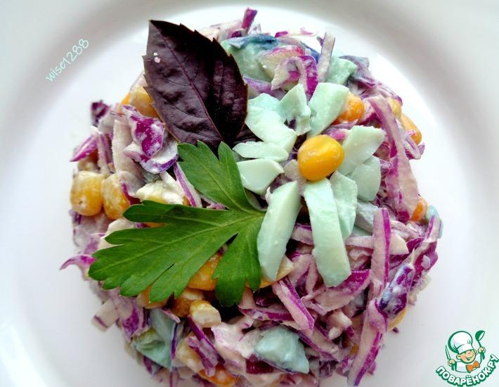 Салат из краснокочанной капусты «Хамелеон»