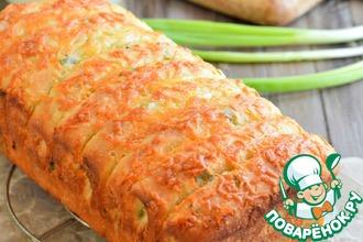 Рецепт: Хлеб с сыром и зеленым луком