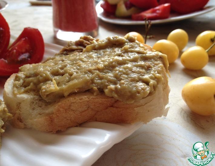Рецепт: Баклажанная паста для бутербродов