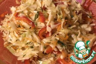 Рецепт: Салат капустный «Красочный»