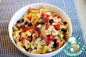 Рецепт: Итальянский салат с салями