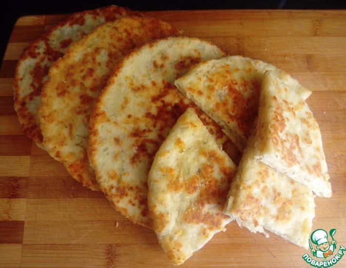 Рецепт: Сырно-творожные лепёшки